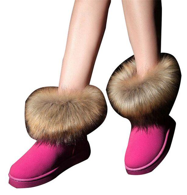 HEE GRAN Marca Zapatos de Las Mujeres Gruesas Botas de Nieve de Moda de Piel 2016 Nuevo Algodón de Invierno Zapatos Calientes Para Las Mujeres Botines XWX3265 en Botas de nieve de Zapatos en AliExpress.com | Alibaba Group