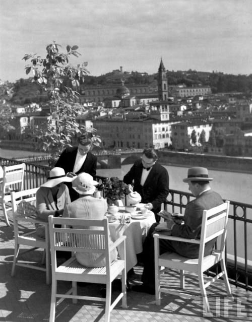 Coffee moments in Florence, Italy 1934
