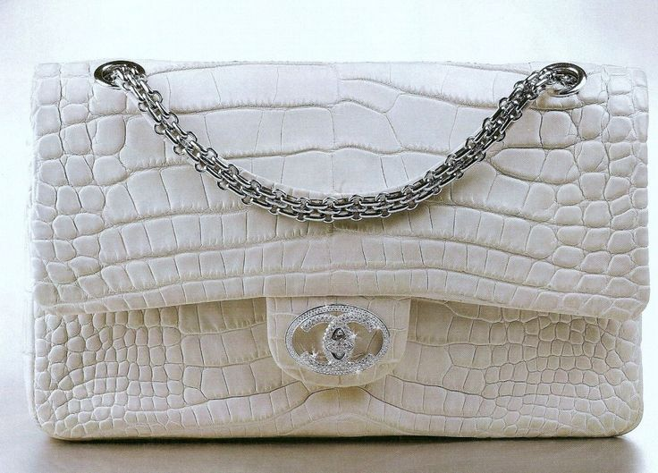 Diamond Crocodile White Chanel Handbag... Rare Yes please!!!