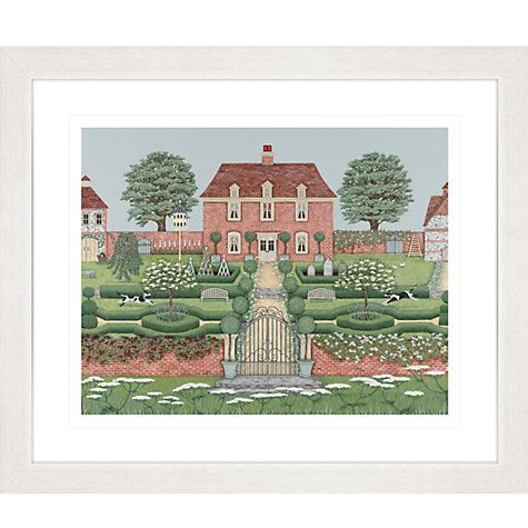 Buy Sally Swannell - Manor House Framed Print, 57x67cm Online at johnlewis.com