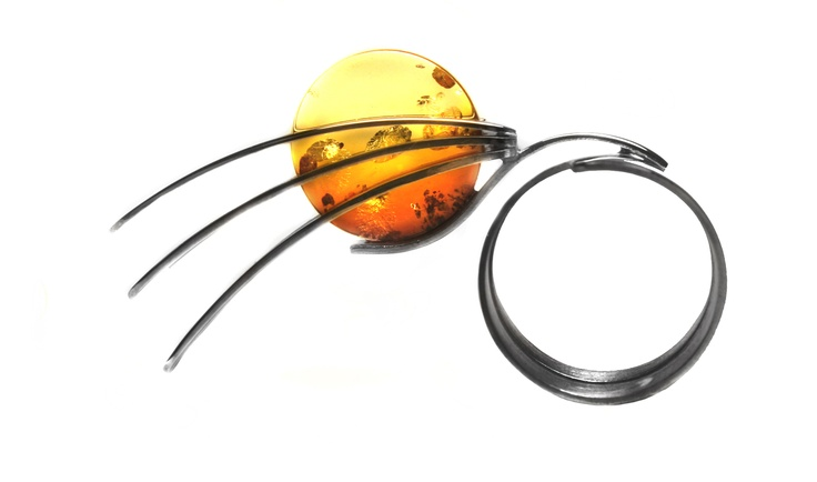 Sunline / Ring / silver, amber 2007