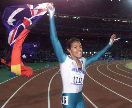 Cathy Freeman is a proud native Australian. Cathy was the first Aboriginal track and field athlete to represent Australia at the Olympics. She has broken boundaries no one believed possible in a country riddled with deep-rooted racism. She has been met with a mix of controversy and praise thanks to her passion towards her heritage. Cathy took her victory lap with the Aboriginal and Australian flag draped over her shoulders. It was a public proclamation of Aboriginal rights.