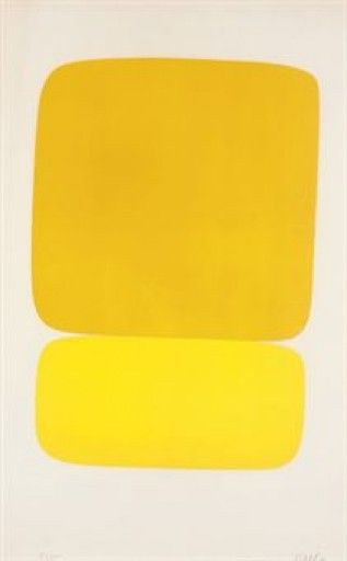Ellsworth Kelly, Yellow over Yellow, 1964-65 on Paddle8