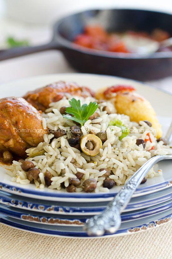 moro de guandules con coco rice pigeon peas and coconut