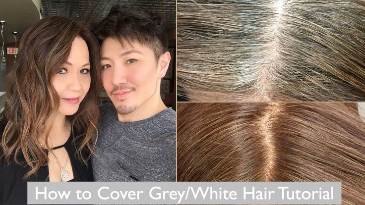 How To Cover Grey White Hair Tutorial With My Mom