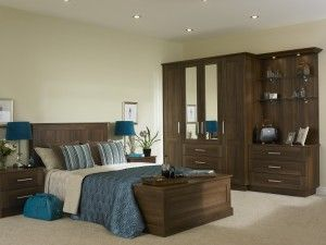 tuscany fitted bedroom furniture shown in dark walnut - Fitted Bedroom Design