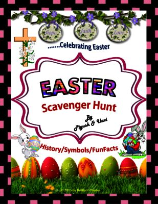 Easter Scavenger Hunt - {An activity on Easter History/Symbols/FunFacts} from BrilliantClasses on TeachersNotebook.com -  (13 pages)  - This is a fun activity that can be used during your students free time or at an Easter celebration. You could even use this with the children in your family during the Easter holidays.