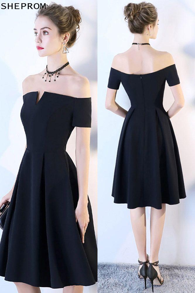 7946e4258029 Little Black Aline Homecoming Party Dress Off Shoulder -  69.3 ...