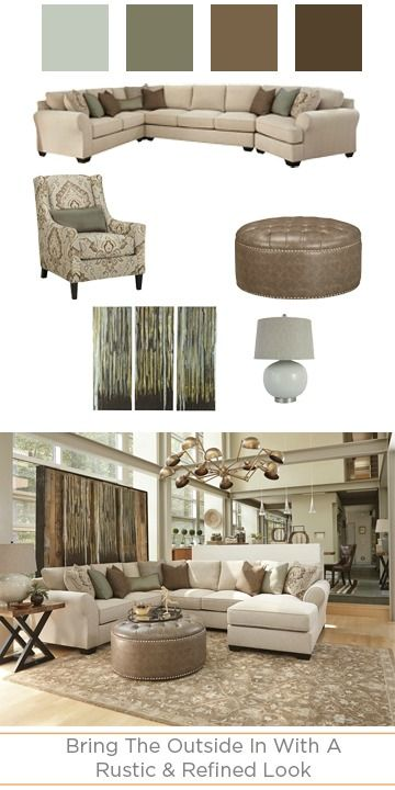 From ashley furniture home store · the wilcot collection has a rustic but refined look that brings the outdoors in for a