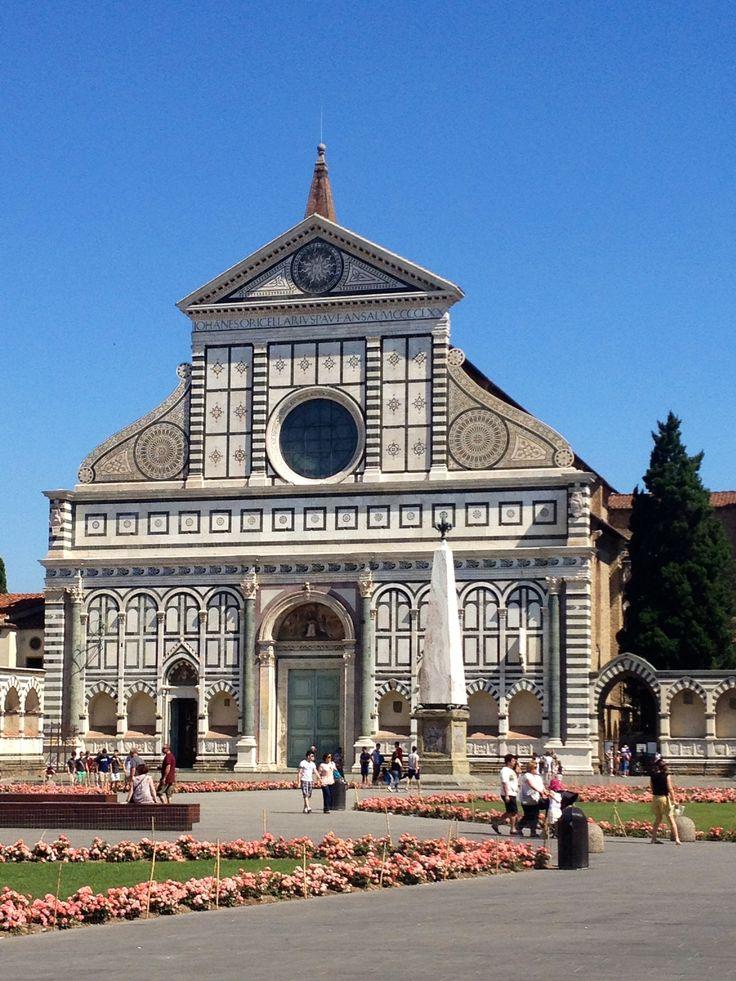 The Santa Maria Novella church, facade, Firenze