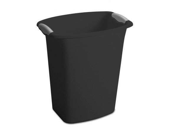 The 3 Gallon Wastebasket features a clean and simple design that coordinates with any home décor. The slim, rectangular shape makes this item ideal for use in the bathroom, bedroom, office, or under the sink. Color-accented inserts and integrated handles allow for easy handling. This wastebasket accommodates a standard plastic shopping bag.  Features:- Clean, simple design coordinates with any home decor. Slim decorative shape, capable of fitting neatly into tight spaces. Easy-to-clean…