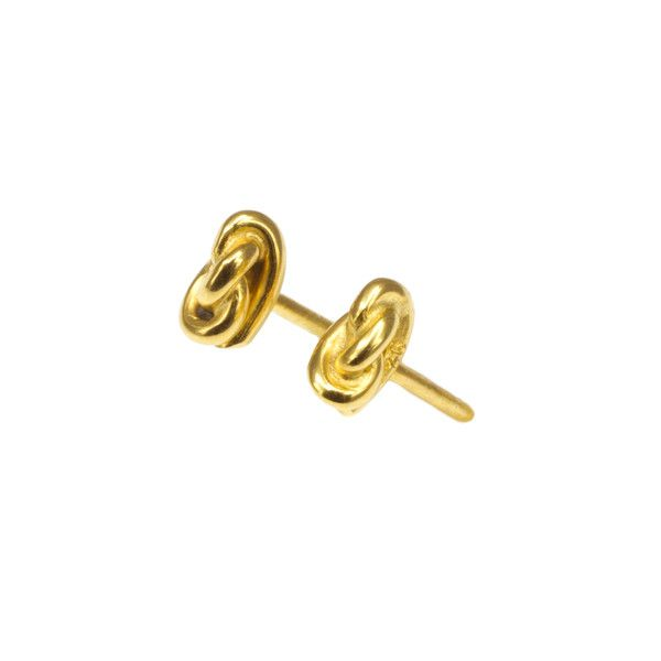Love knot earrings gold plated