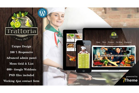 Trattoria - Rustic Restaurant Theme by 7Theme on Creative Market