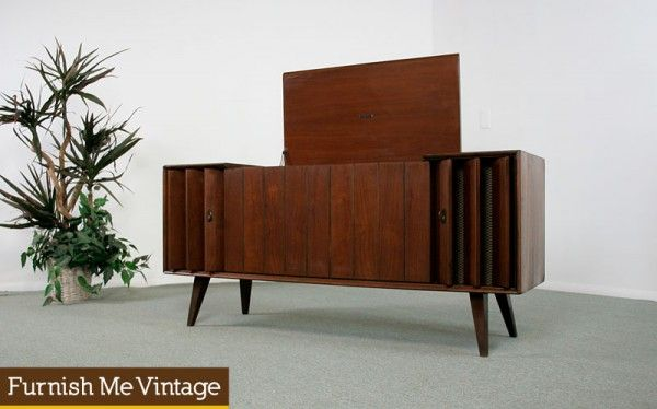 Vintage danish style zenith x930 record player console for Zenith sofa table