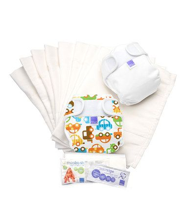 Size 2 Traffic Jam Miosoft Nappy Set by Bambino Mio on #zulilyUK today!
