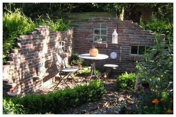 Amazing Ideas With Stone Gazebo Without A Roof My Desired Home Garden Wall Designs Garden Design Outdoor Gardens