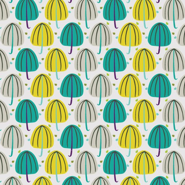 Patterns by Rosalind Maroney yellow aqua teal turquoise