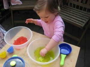 jelly sensory play - perfect for baby