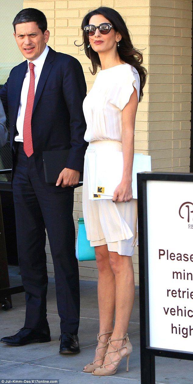 These look familiar: Her heels look like something Kim Kardashian would wear...