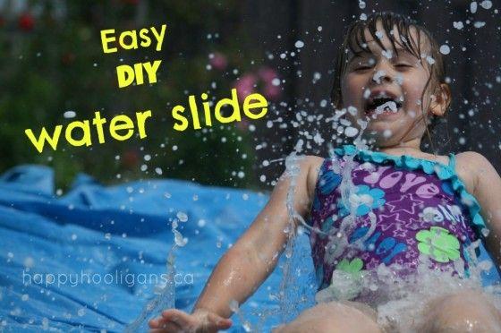 Easiest Homemade Water-Slide for the Backyard - happy hooligans