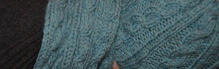 Un joli ensemble Echarpe/Bonnet en tricot