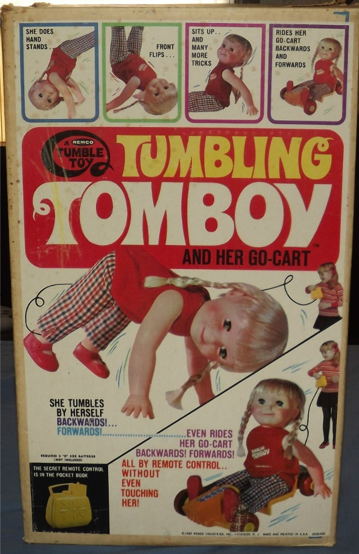 Remco 1969 Tumbling Tomboy And Her Go Cart Vintage Toys
