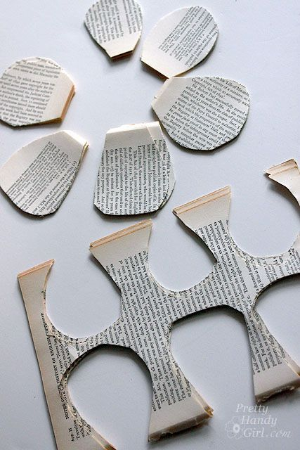 Directions for book paper rose - If I could ever get myself to tear apart a book, this is beautiful art for my walls!