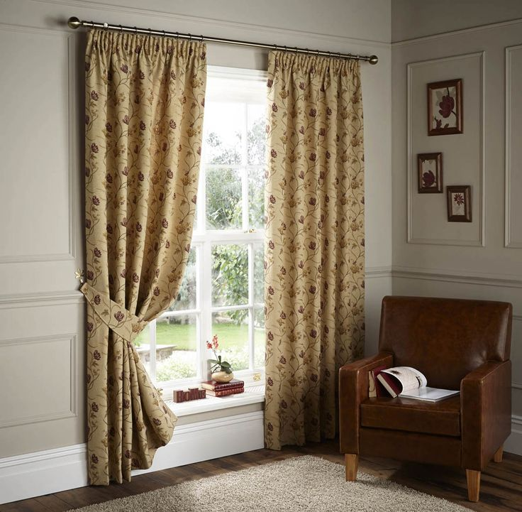 Cranley Ready Made Lined Curtains Natural | Pencil Pleat Curtains | Cheap UK Delivery