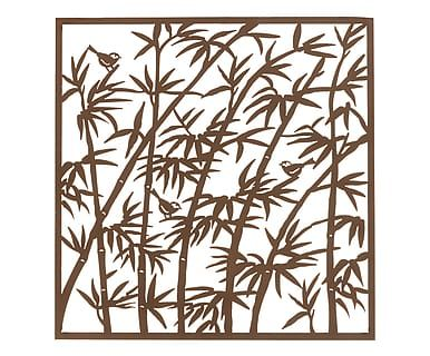 Decorazione da parete in metallo Bambu' marrone, 84x84 cm