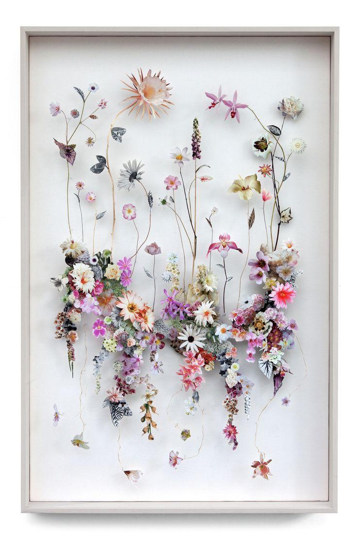 Flower construction 90 (w94 h134 d6.5 cm) Pressed