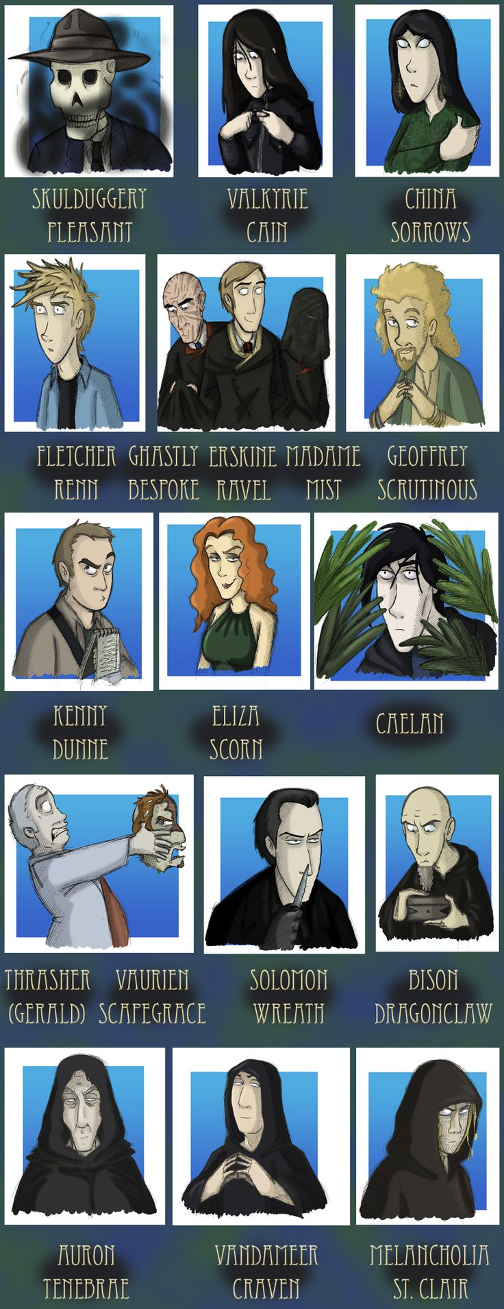 Skulduggery Pleasant book 6 cast of characters