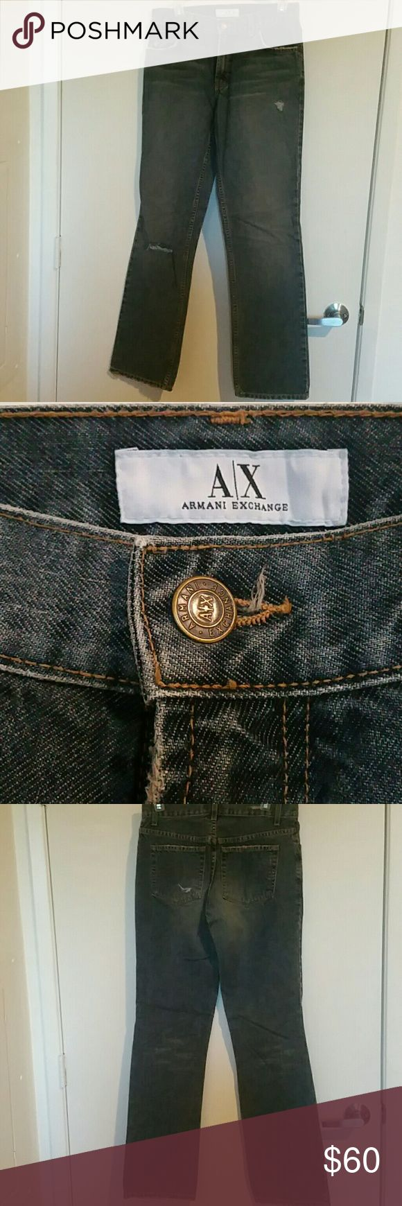 Armani Exchange bootleg J40 jeans size 6 regular Armani Exchange bootleg J40 jeans size 6 regular and like new condition. Please see photos from more details. Feel free to ask any questions that you may have. I am open to all offers. There are not any flaws. Armani Exchange Jeans Boot Cut