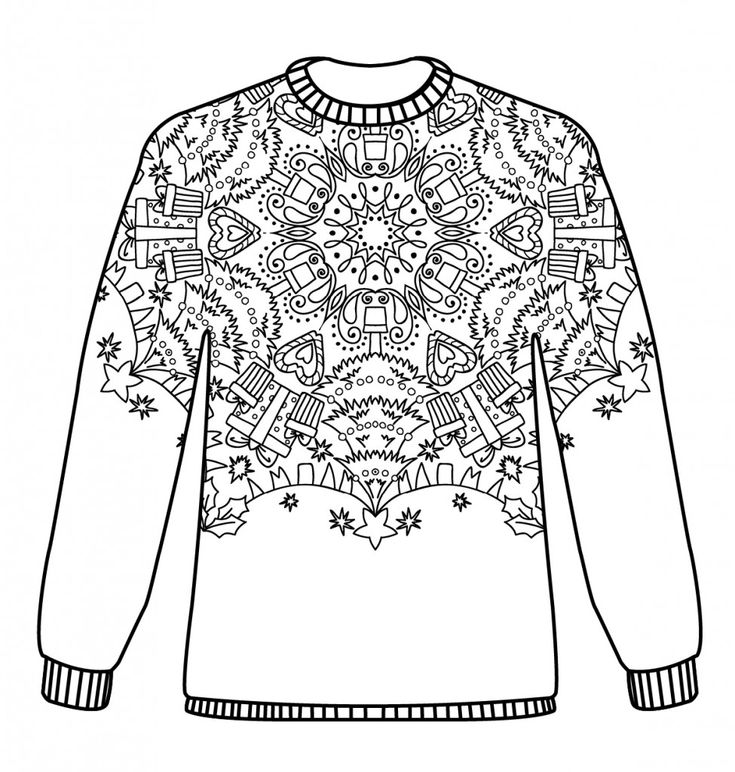 картинки карандашом свитер пошаговые инструкции помогут
