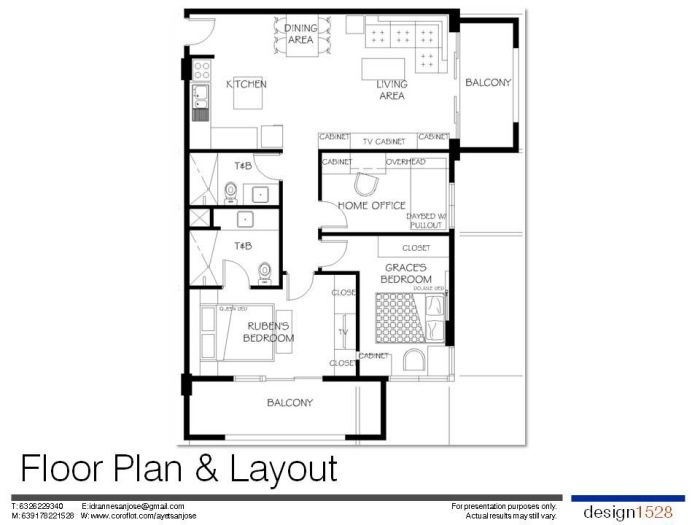 """3 Bedroom Condo at One Accolade, DMCI Quezon City by Anne Margaret """"Ayet"""" San Jose-Aniag (Design1528) at Coroflot.com"""