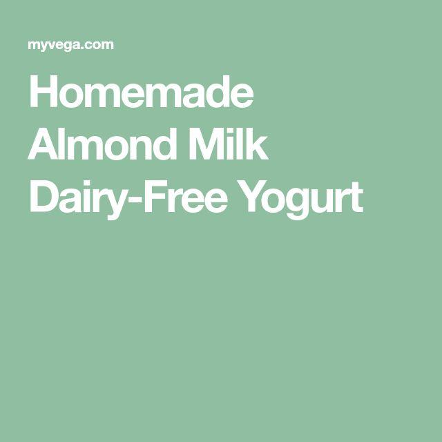 Homemade Almond Milk Dairy-Free Yogurt