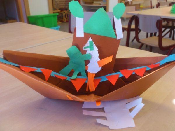 bootje  voor bij het thema van de kikker tiendaagse 2014. kikker is een held.