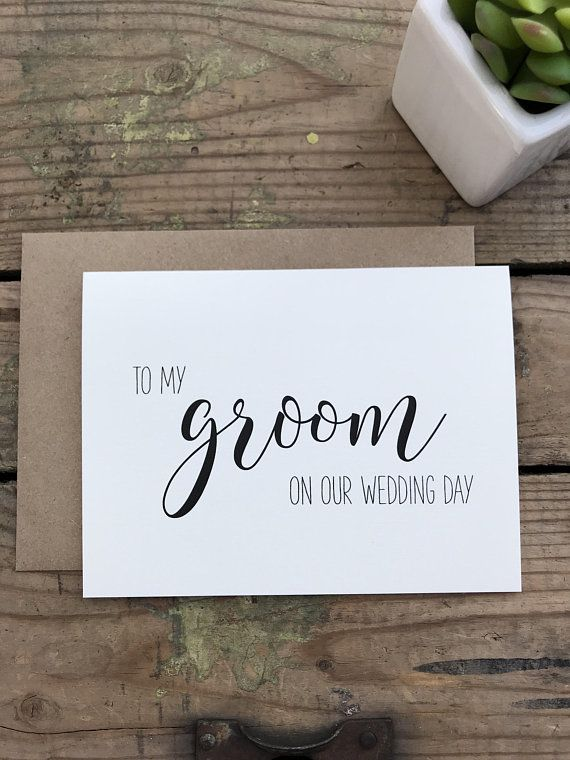 to my groom on our wedding day bride groom love letters note greeting card