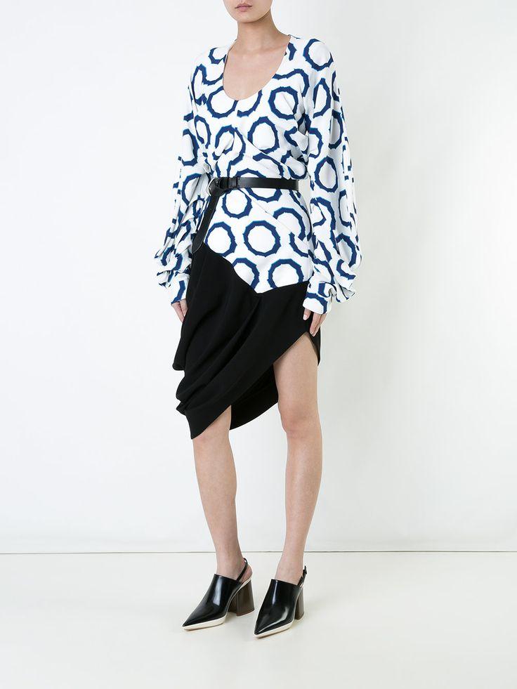 J.W.Anderson асимметричное платье с геометрическим узором