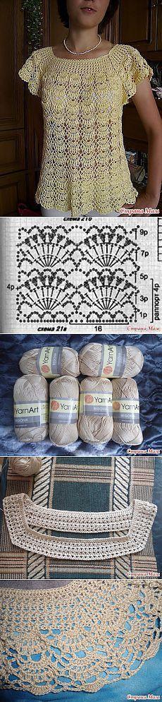Bluza soare de la Lyudmila Makarova: Blog grup & quot; Knit împreună on-line & quot;  - acasă Mamele [] #<br/> # #Crochet #Clothes,<br/> # #Crochet #Tops,<br/> # #Crochet #Patterns,<br/> # #Blog,<br/> # #Knits,<br/> # #Sun,<br/> # #Crochet #Blouses,<br/> # #Tissue,<br/> # #Dresses<br/>