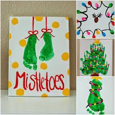 Image result for pinterest mistletoe footprints
