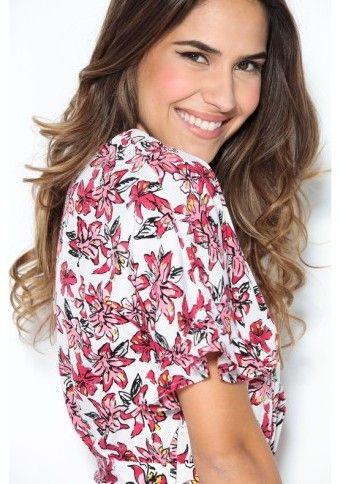 Květované šaty se sladěným páskem #ModinoCZ #dress #šaty #květiny #flowers
