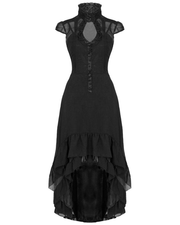 Voodoo Vixen Long Black Rose Steampunk Vtg Victorian Gothic Juliet Dress Gown | eBay