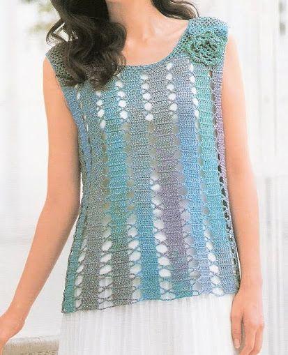 Crochetemoda: Blusas lots of crochet tops