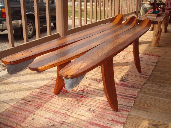 Vintage water ski coffee table