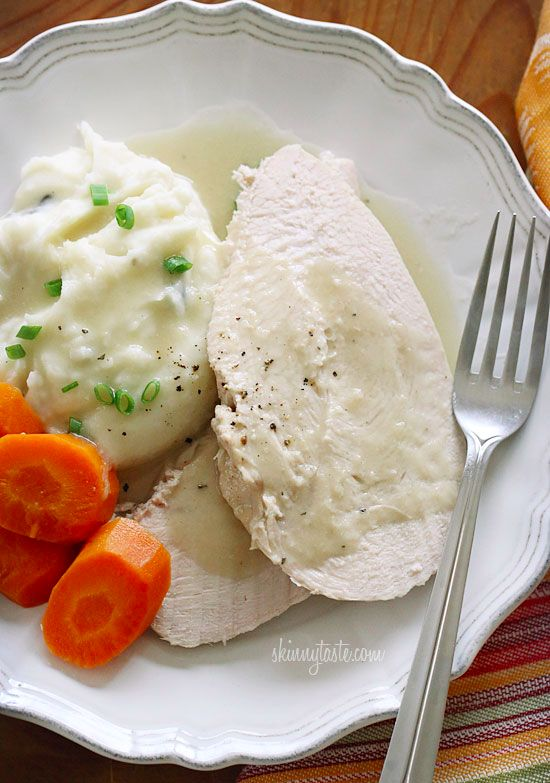 This slow cooker turkey breast and gravy is easy, moist and delicious!