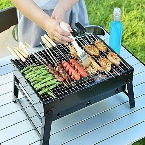 Portable Gas Grill BBQ Camping Simple Charcoal Grill for Outdoor Small, Black #OpportunityBestDeal