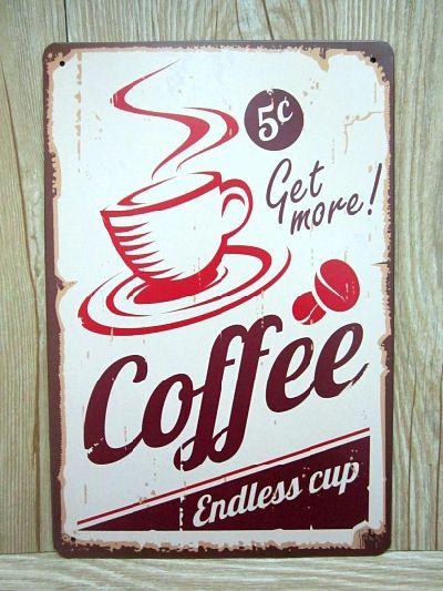 Coffee metálicos carteles de chapa etiqueta engomada decorativa decoración vintage pared de Metal placas JH-00351vintage placa 20 X 30 CM envío gratis