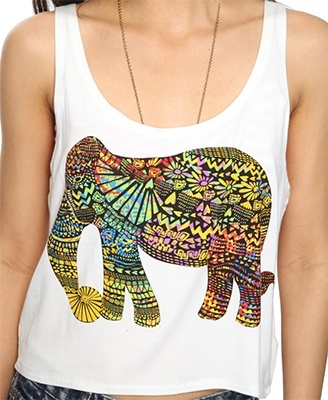 perfect for concerts: Summer Shirts, Shirts Tops, Clothing Hair Jewelry, Fashion Hair Clothing, Elephants Tanks, Colors Elephants, Beautiful Fashion, Elephants Love, Clothing Shoes Styl