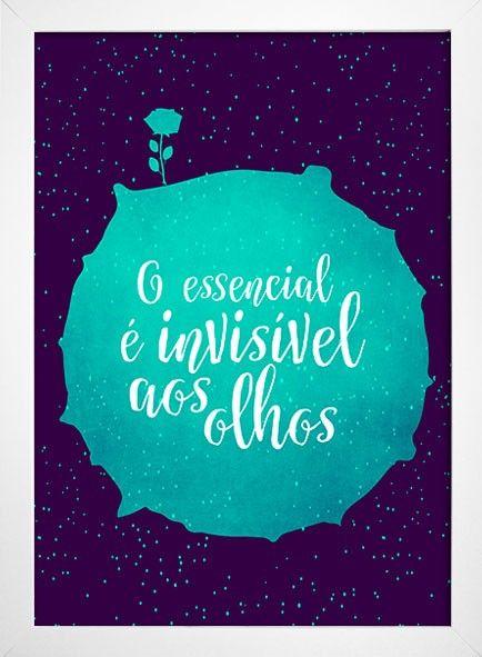Poster Pequeno Príncipe - O Essencial é invisível aos olhos - Encadreé Posters