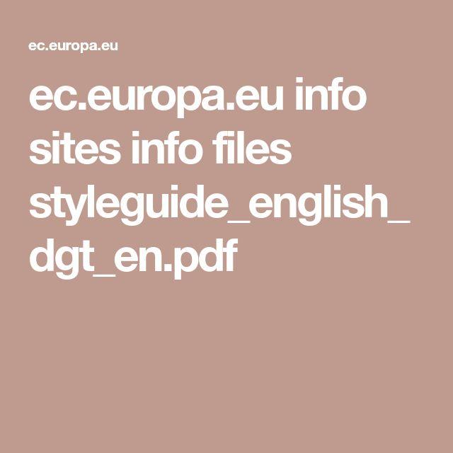 ec.europa.eu info sites info files styleguide_english_dgt_en.pdf